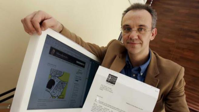 El bloguero Julio Alonso, en una foto de 2007.
