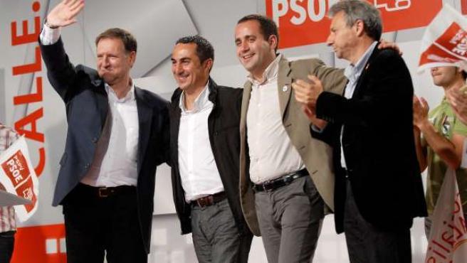 Jorge Alarte Y Marcelino Iglesias En El Mitin En Castellón