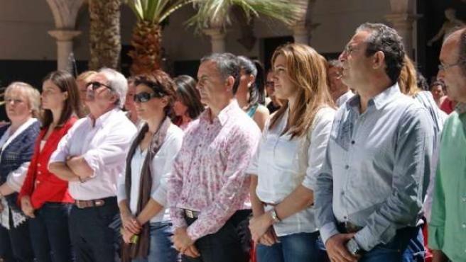 El Candidato Del PSOE De Almería Y La Secretaria Organización Del PSOE