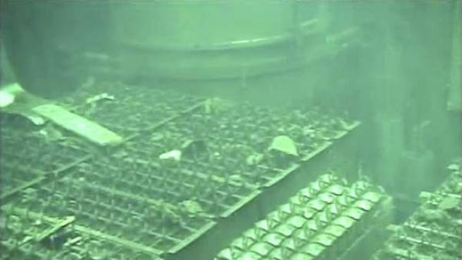Imagen del reactor número 4 de la planta de Fukushima.