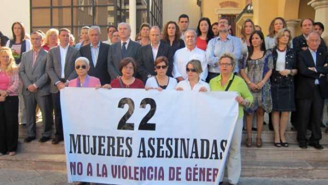Momento Del Acto De Repulsa Celebrado En Almería Con La Presencia De Arenas