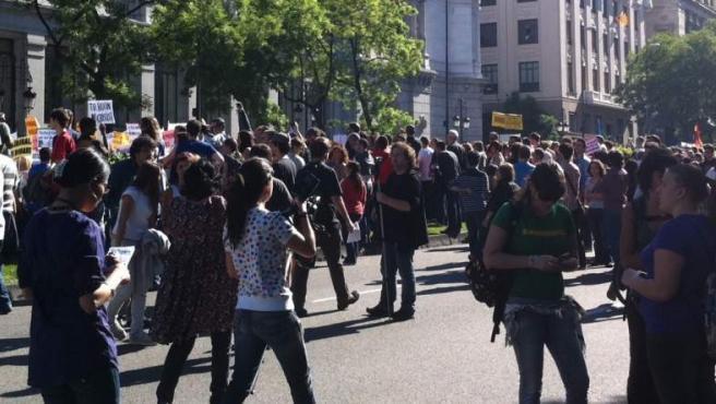 Manifestación del 15 de mayo en Madrid, organizada por la plataforma 'Democracia Real Ya'.