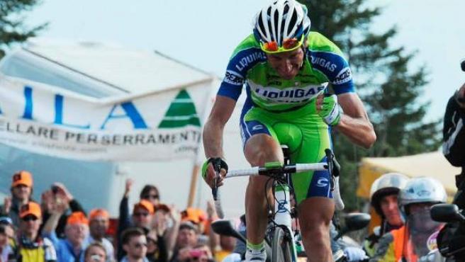 Ivan Basso, durante un Giro de Italia (ARCHIVO).