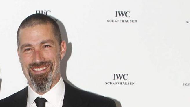 El joyero suizo Georges Kern (i) y el actor estadounidense Matthew Fox (d) en Cannes.