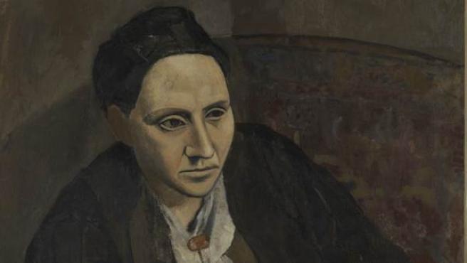 Retrato de Gerturde Stein, pintado por Pablo Picasso