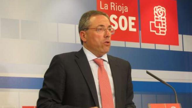 El Secretario General Del PSOE Riojano, Francisco Martínez Aldama