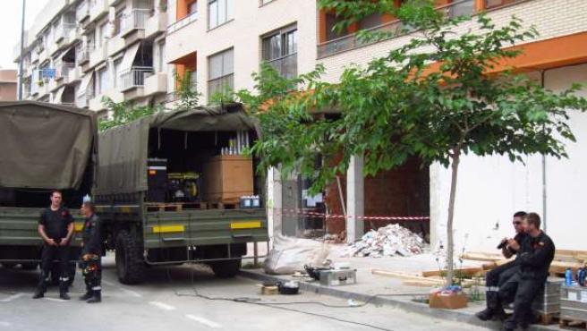 Soldados De La UME, En Lorca Tras El Terremoto
