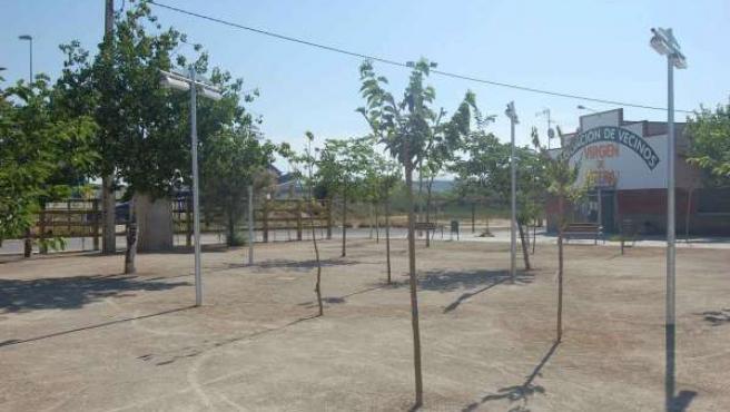 Plaza De 'La Litera' En Fraga (Huesca)