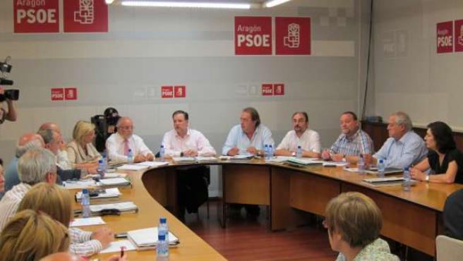Reunión De La Ejecutiva Del PSOE-Aragón
