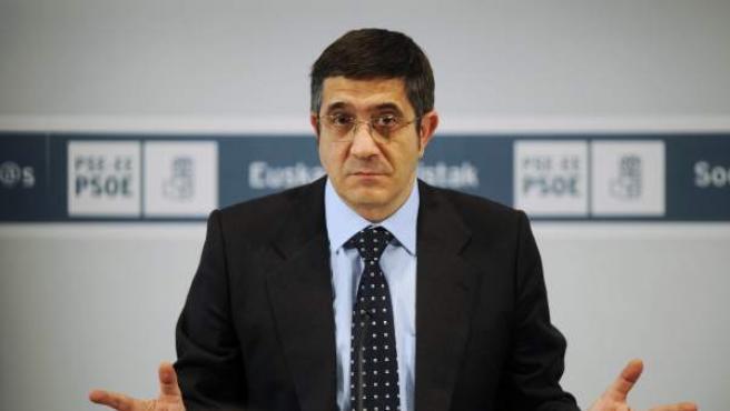El secretario general del PSE-EE y lehendakari, Patxi López.