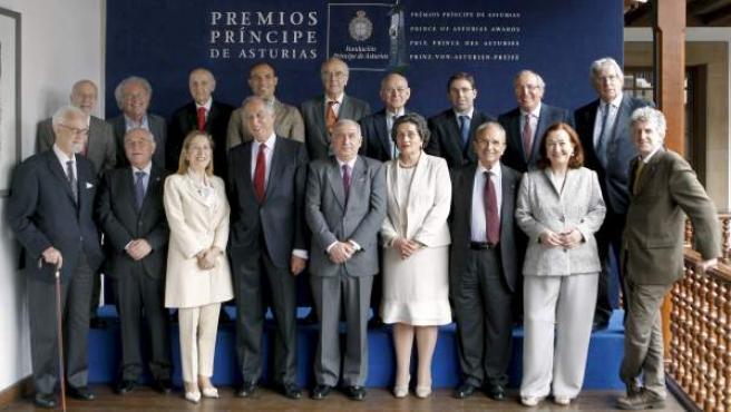 El jurado del Premio Príncipe de Asturias de Investigación Científica y Técnica.