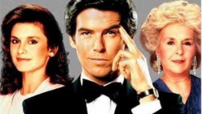 Los protagonistas de la serie 'Remington Steele'.
