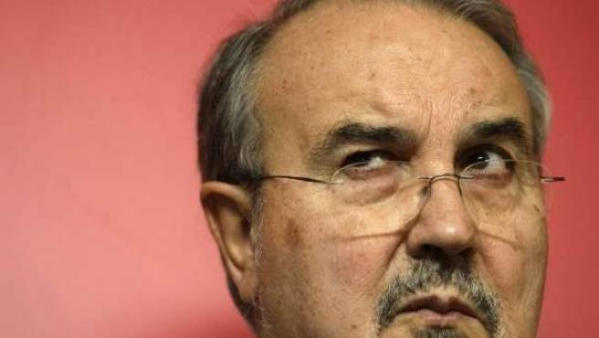 El exministro de Economía, Pedro Solbes, durante una reunión.