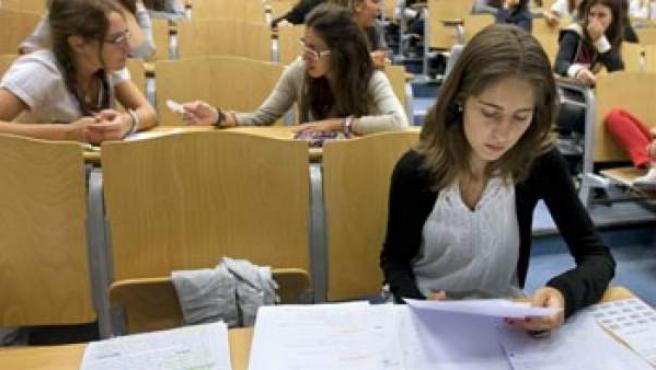 Algunos alumnos universitarios.