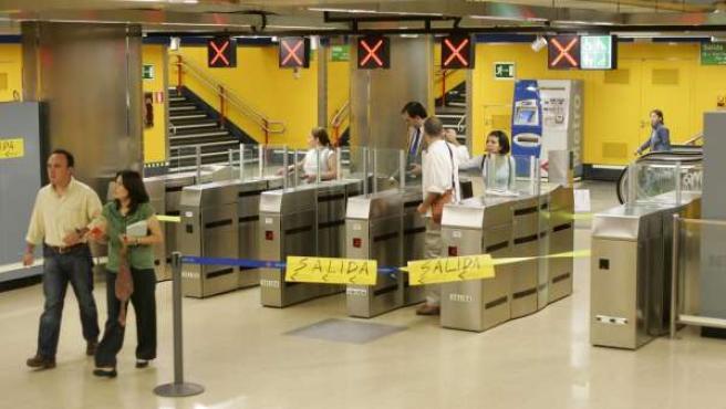 Imagen de la estación de metro de Callao.