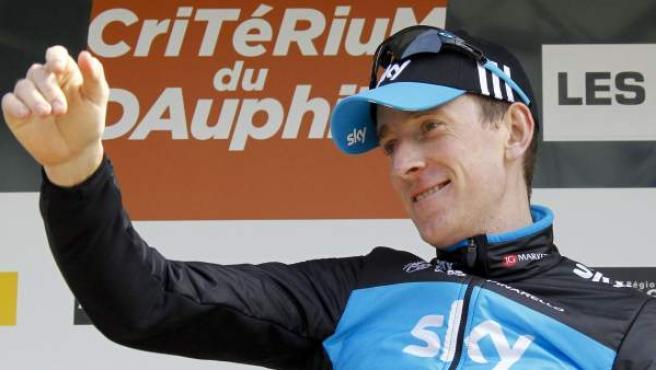 Bradley Wiggins, corredor de Sky, tras su victoria en el Dauphiné.