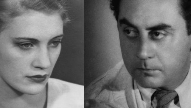 A la derecha, Ray retratado por Miller en 1931. A su lado, Miller retratada por Ray en 1930
