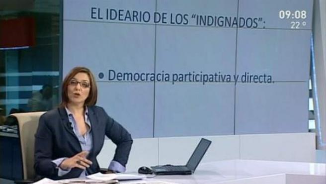 Una captura de pantalla del programa 'El Círculo', de Telemadrid.