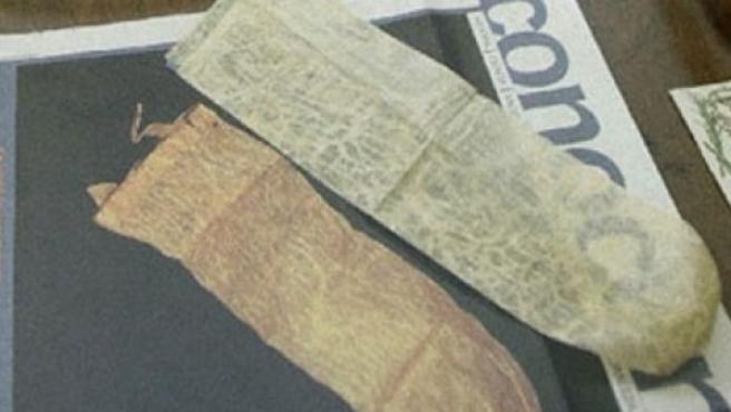 Preservativos que se podrían asemejar a los encontrados en Toledo, y que fueron encontrados hace unos años en Salamanca.