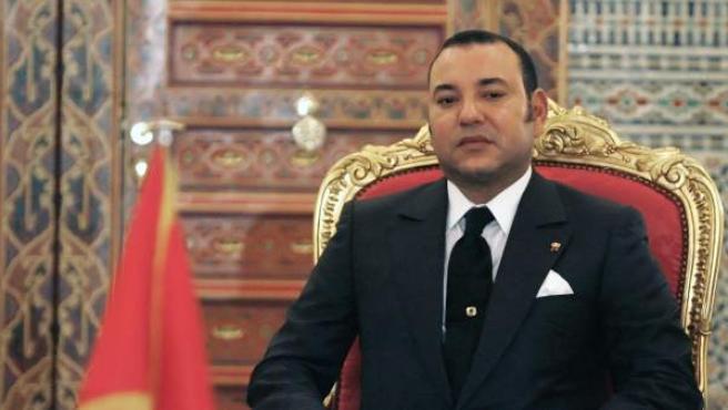 El rey de Marruecos, Mohamed VI, en su palacio de Marrakech.