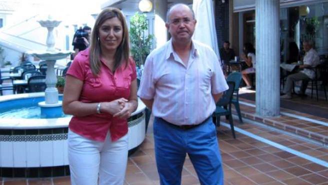Susana Díaz Y El Alcalde De Gines, Manuel Camino