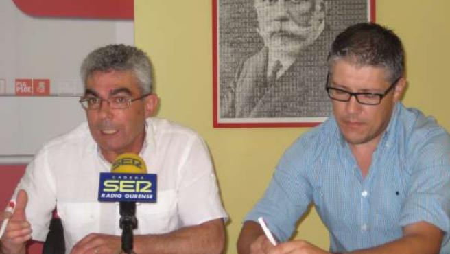 Fotografía Da Rolda De Prensa De Raúl Fernández E Miguel Ángel Rodríguez