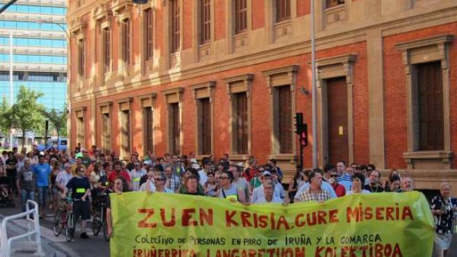 Manifestación Convocada Por El Colectivo De Personas En Paro De Pamplona.