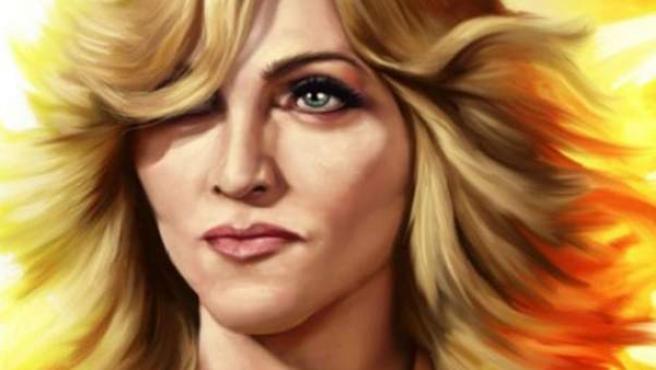 Portada del cómic sobre la vida de Madonna.