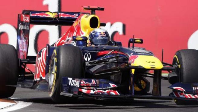 El piloto alemán de Red Bull, Sebastian Vettel, durante la tercera tanda de entrenamientos libres del GP de Valencia.