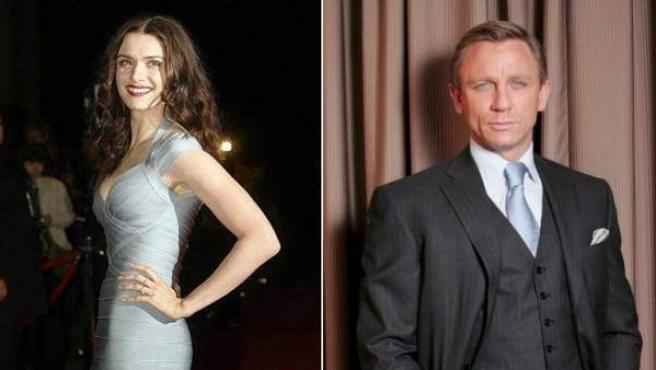 Los actores Rachel Weisz y Daniel Craig.