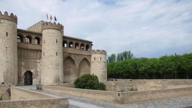 El Palacio de la Aljafería, sede de las Cortes de Aragón.