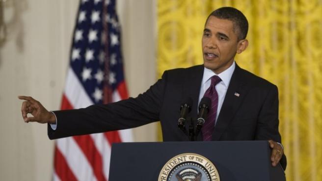 El presidente de Estados Unidos, Barack Obama, en la Casa Blanca.