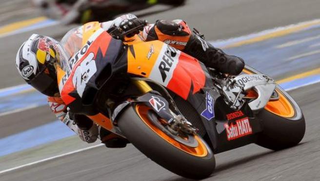 El piloto español de MotoGP Dani Pedrosa, de Repsol Honda.