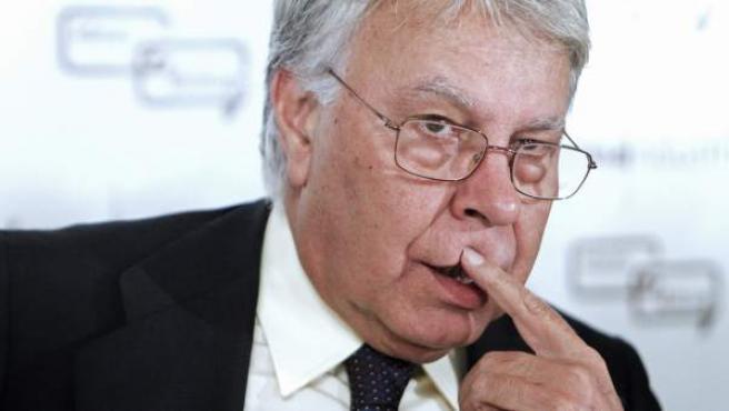 El expresidente del Gobierno Felipe González, durante su intervención en Madrid, en el Foro Ideas+Diálogo en Sanidad.