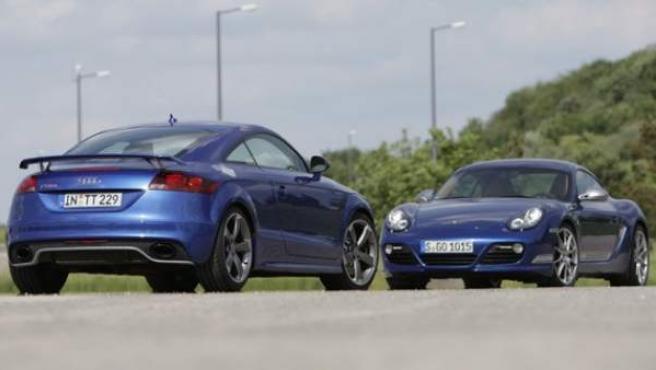 Porsche Cayman R y Audi TT RS.