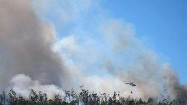 Incendio En Un Monte Gallego