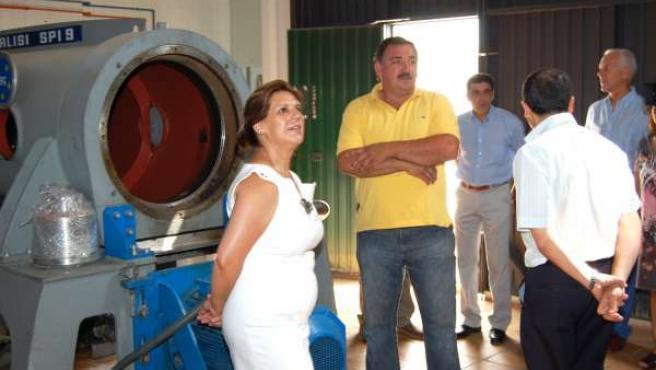 Rosa Torres, Durante Su Visita A La Cooperativa