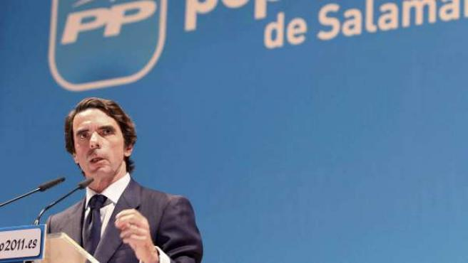 José María Aznar, en Salamanca
