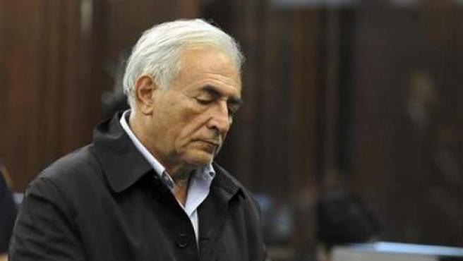 El director gerente del FMI, Dominique Strauss-Kahn durante su comparecencia ante el tribunal en Manhattan.