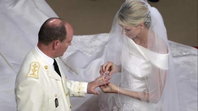 Los príncipes Alberto II y Charlene de Mónaco se volvieron a dar el 'sí' en una ceremonia religiosa.