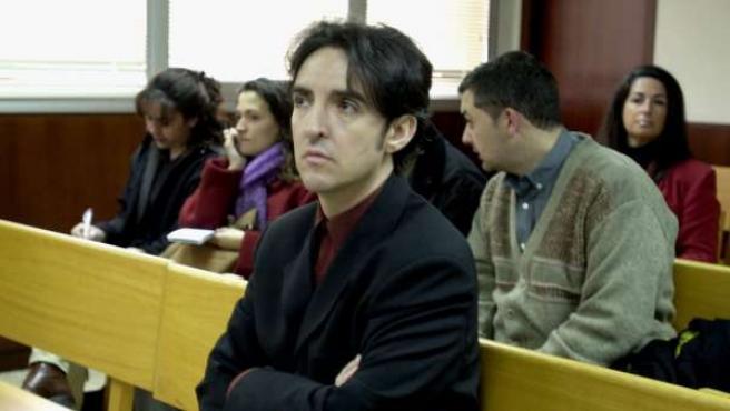 El cantante Ramoncín durante un juicio en Barcelona en el que se le acusaba de agredir a un cámara de television.