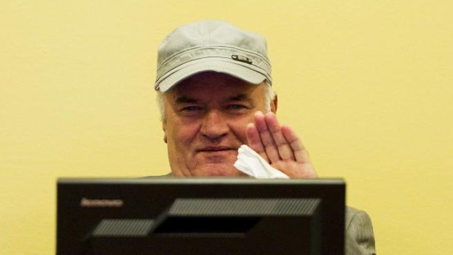 Ratko Mladic comparece ante el Tribunal Penal Internacional para la antigua Yugosavia (TPIY) en La Haya.