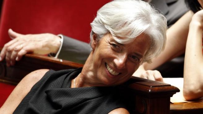 Christine Lagarde, nueva directora gerente del FMI, en el parlamento francés.