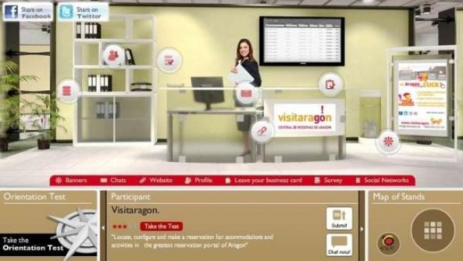 Página De 'Visitaragon' En La II Feria Conexión Spain Virtual