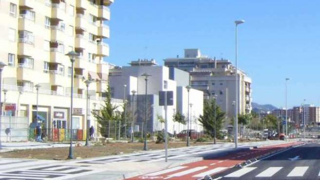 Un Carril-Bici En Málaga Capital