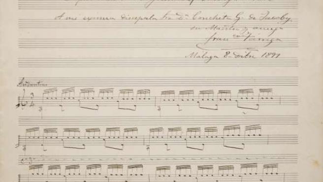 Manuscrito Original De Tárrega