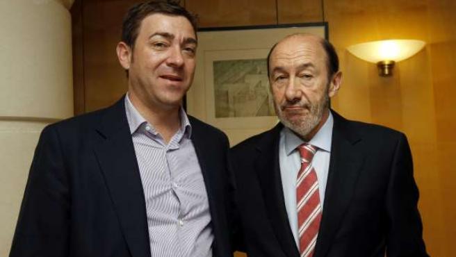 Roberto Jiménez Y Alfredo Pérez Rubalcaba.