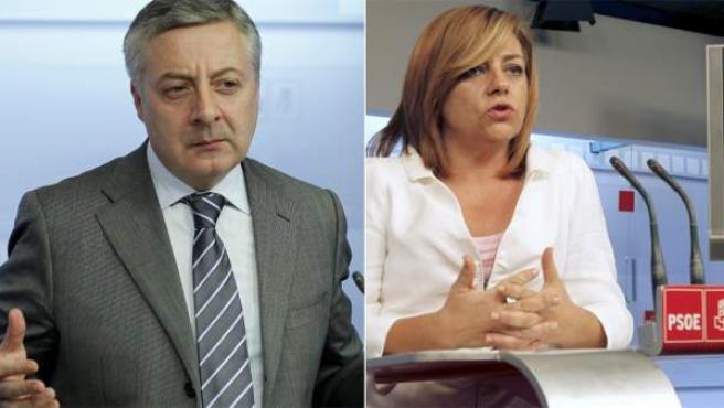 José Blanco y Elena Valenciano.
