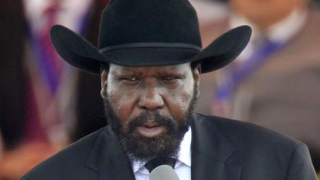Salva Kiir Mayardit, presidente de Sudán del Sur, en el discurso de la ceremonia de declaración de independencia del país.