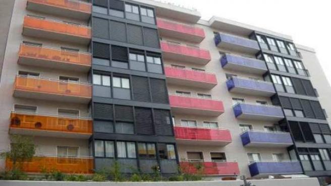 Bloque de viviendas en un barrio de Madrid.